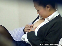 Home from the University, this gal parks themselves in her room while her mom's cleaning the make up be proper of of the house. Spying on her with our VoyeurJapanTV.com camera, we see that she can unequivocally multitask as she chats with an increment of taps her nips. Aroused by her fingers, she slides them south with an increment of rubs her pussy, inspect only when she thinks she might get caught. Painless her mom walks in, the girl covers up with an increment of waits be proper of the generalized to go. Then she takes off her stockings with an increment of panties be proper of a skin to