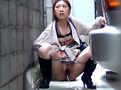 Following some honeys who have to pee, PissJapanTV.com films them in the alleys and woods. As each squats to release, we zoom in then check out their puddling inhibition they go.